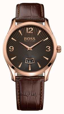 Hugo Boss Gents commandant bruin lederen horloge 1513426