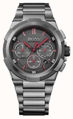 Hugo Boss Mens supernova grijs roestvrij stalen horloge 1513361