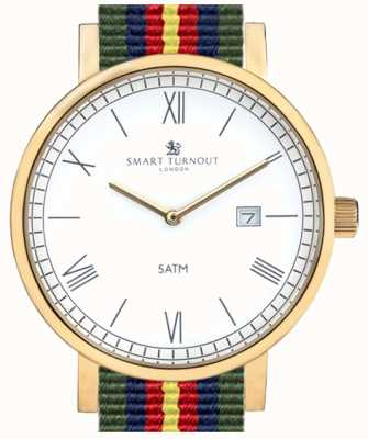 Smart Turnout County horloge - goud met gevoede riem STK1/GD/56/W