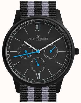 Smart Turnout Time horloge - zwart met nato band STK2/BK/56/W