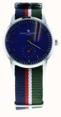 Smart Turnout Signature horloge - marine met ah riem STK3/NV/56/W