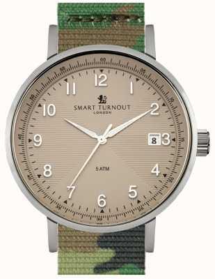 Smart Turnout Scholar horloge beige met camo watch STH3/BE/56/W