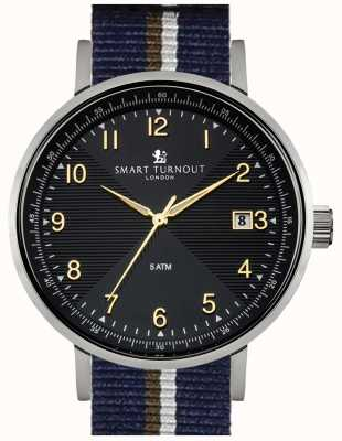 Smart Turnout Scholar horloge zwart met pb riem STH3/BK/56/W