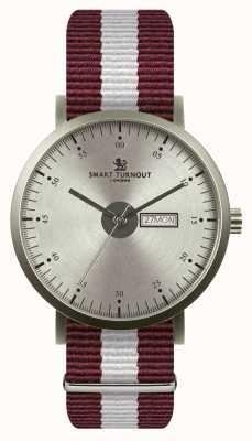 Smart Turnout Stad horloge - zilver met Harvard riem STG1/SV/56/W