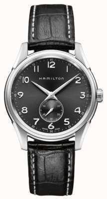 Hamilton Mens Jazzmaster Thinline kleine tweede kwarts zwart H38411783
