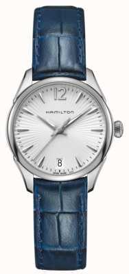Hamilton Womans Jazzmaster kwarts blauw leer H42211655