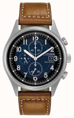 Citizen Mens eco-rijden blauw chronograaf chandler CA0621-05L