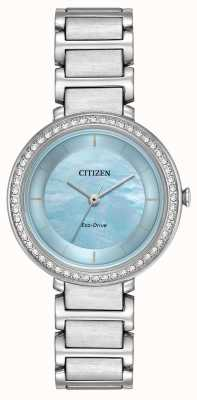 Citizen Womans Eco-Drive silhouet helderblauw EM0480-52N