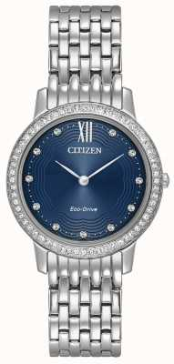 Citizen Womans Eco-Drive silhouet helderblauw EX1480-58L