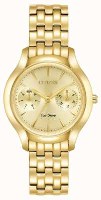Citizen Womans Eco-Drive silhouet Chandler goud FD4012-51P