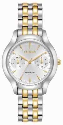 Citizen Womans Eco-Drive silhouet Chandler two tone FD4014-56A