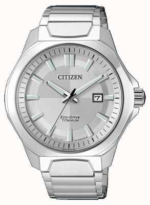 Citizen Mens Eco-Drive super titanium zilveren horloge AW1540-88A