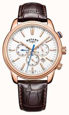 Rotary Mens monaco sport chronograaf leer GS05084/06