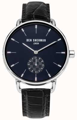 Ben Sherman Mannen londen zwart leren riem horloge WB063UE