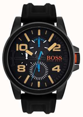 Hugo Boss Orange Mens detroit zwarte rubberen band 1550011