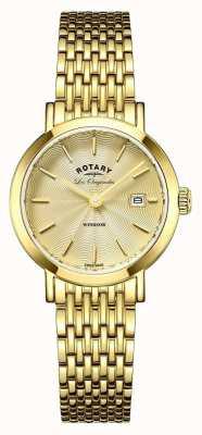 Rotary Dames windsor vergulde armband LB90156/03