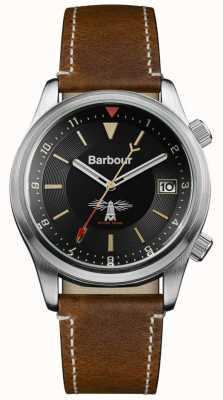 Barbour Mens Seaburn zwart bruin leer BB059BKBR