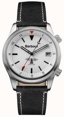 Barbour Mens Seaburn wit zwart lederen BB059WHBK