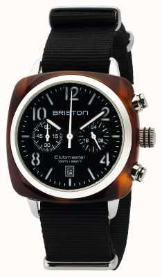 Briston Mens clubmaster klassieke acetaat chrono schildpad shell zwart 16140.SA.T.1.NB