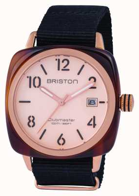 Briston Mens clubmaster klassieke acetaat rose goud 14240.PRA.T.6.NB