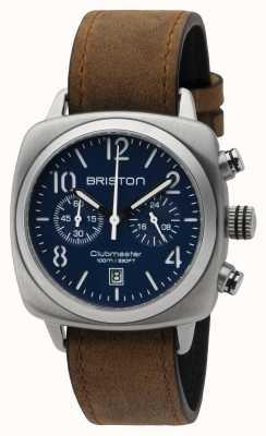 Briston Mens clubmaster klassieke stalen chrono matte blue 16140.S.C.15.LVBR