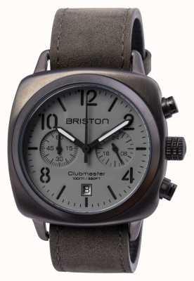 Briston Mens clubmaster klassieke stalen chrono gun 15140.SPG.C.12.LVB
