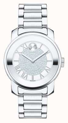 Movado Vet midsize luxe zilver roestvrij staal k1 kristal 3600254