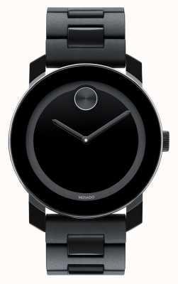 Movado Vet grote zwarte TR90 samengestelde minimalistische horloge 3600047