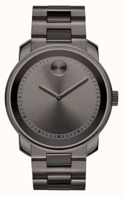 Movado Vet grote staalgrijze-ion-plated k1 kristal 3600259