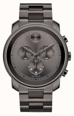 Movado Vet grote chronograaf staalgrijze-ion-plated 3600277