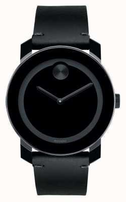 Movado Vet grote zwarte TR90 samengestelde zwarte wijzerplaat 3600306