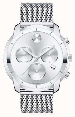 Movado Vet chronograaf roestvrijstalen gaas armband 3600371