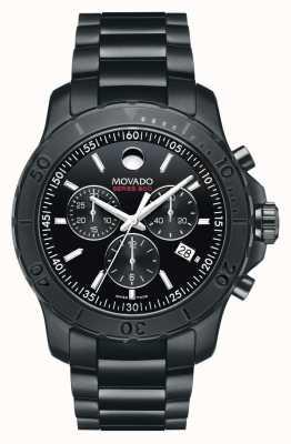 Movado Men's serie 800 chronograaf prestaties staal ™ zwart 2600119