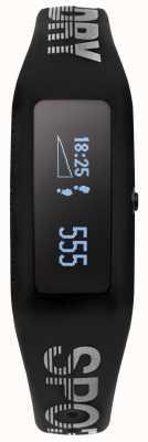 Superdry Unisex fitness tracker zwarte siliconen band SYG202B