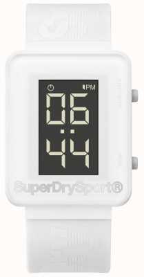 Superdry Unisex gym sprint digi wit siliconen band SYG204W