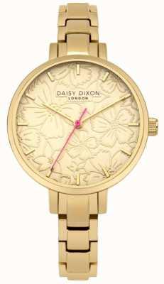 Daisy Dixon Womans Leona Bloemendrukwiel goud DD043GM