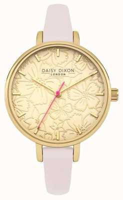 Daisy Dixon Womans phoebe bloemen gedrukte wijzerplaat goud DD042G