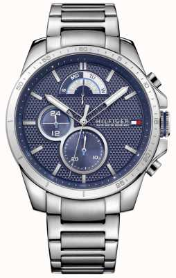 Tommy Hilfiger Heren roestvrij staal blauwe chrono 1791348