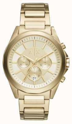Armani Exchange Heren goud getinte chronograaf AX2602