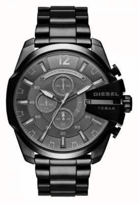 Diesel Mens mega chief chronograaf zwart DZ4355