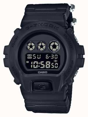 Casio Mens G-shock black out stoffen band DW-6900BBN-1ER