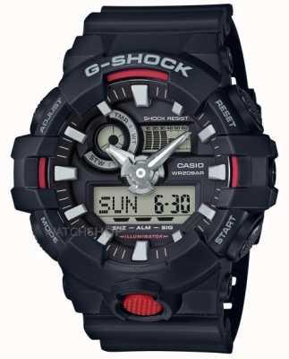Casio Mens G-shock alarm chronograaf zwart GA-700-1AER