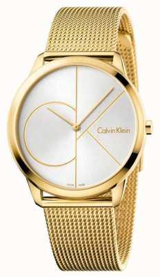 Calvin Klein Mens minimaal goudnetwerk K3M21526