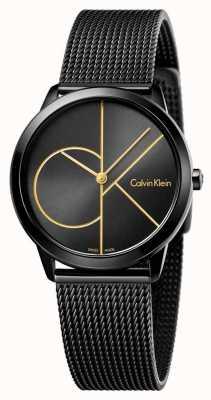 Calvin Klein Dames minimale zwarte gaas K3M224X1