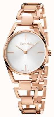 Calvin Klein Womans sierlijke rose gold plated K7L23646
