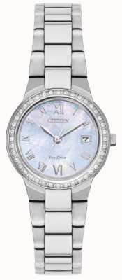 Citizen Dames eco-drive kristallen kasthorloge EW1990-58D