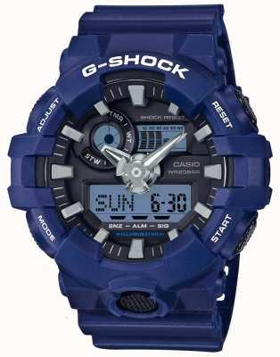 Casio Mens G-shock alarm chronograaf blauw GA-700-2AER