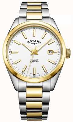Rotary Mens havana automatische two tone GB05078/02