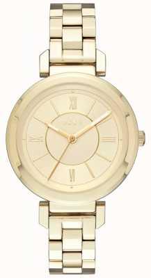 DKNY Womans ellington staal gouden horloge NY2583