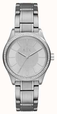 Armani Exchange Womans stalen zilveren jurk horloge AX5440